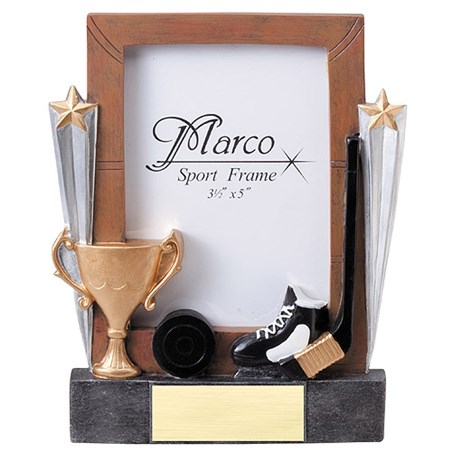 "7-1/4"" Hockey Resin Photo Frame"