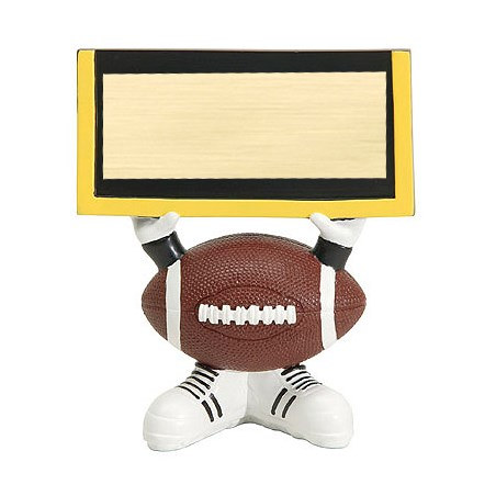 4.25 in Football Ball Head Resin Trophy