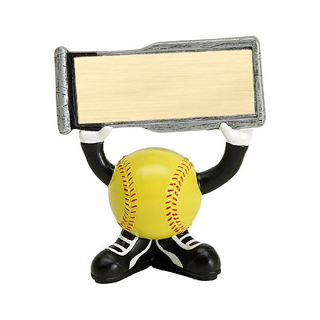 "4.25"" Softball Ball Head Resin Trophy"
