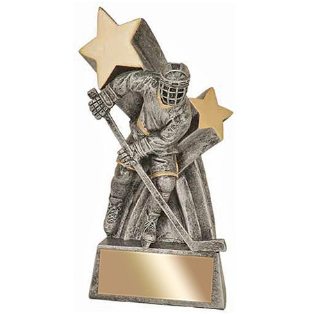 "6"" High Gloss Super Star Hockey Resin"