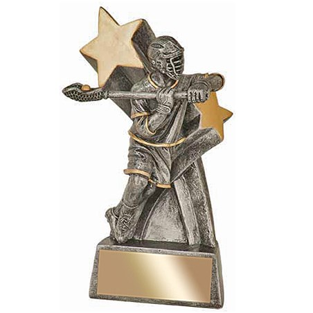 6 in High Gloss Super Star Male Lacrosse Resin