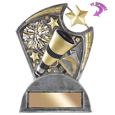 6 in Cheer Resin Trophy w/ Spinning Star