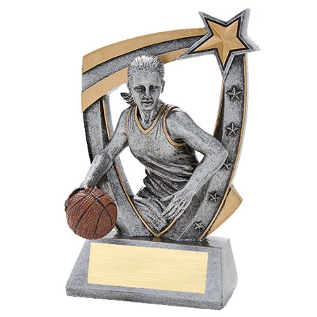 3-D Female Basketball Star Resin Trophy