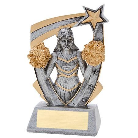 3-D Cheer Star Resin Trophy