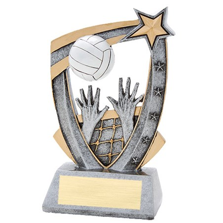 3-D Volleyball Star Resin Trophy
