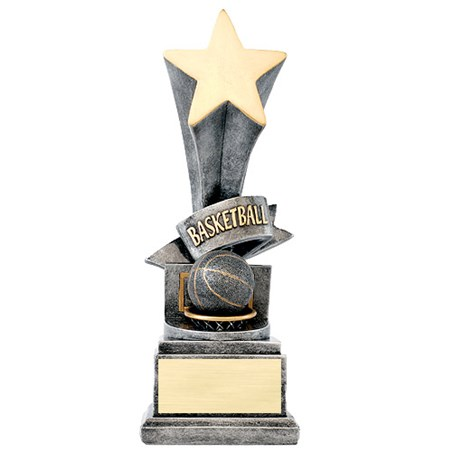 "8"" Basketball Star Resin Trophy"