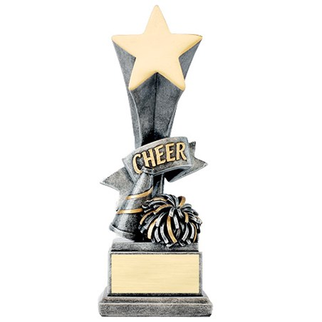 8 in Cheer Star Resin Trophy