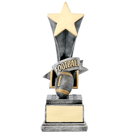 8 in Football Star Resin Trophy