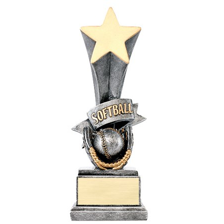 "8"" Softball Star Resin Trophy"