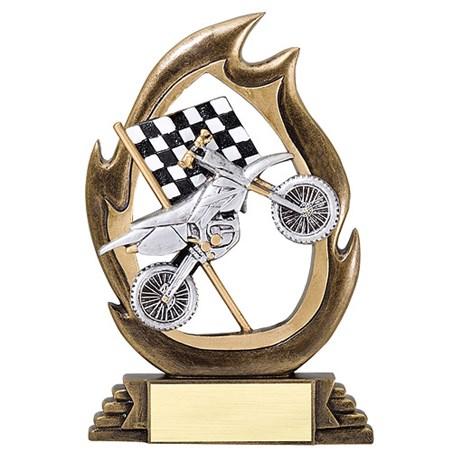 "7-1/4"" Motocross Flame Series Resin"