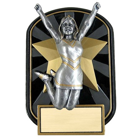 6.5 in Rock n Jox Cheer Resin Trophy