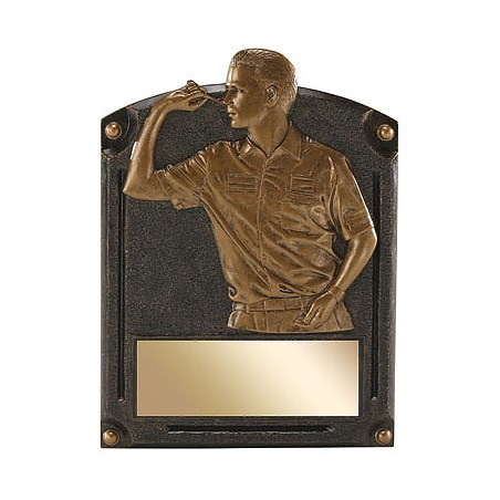 "6"" x 8"" Dart Legends of Fame Resin Trophy"