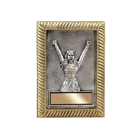 "5"" x 7"" Cheerleading Resin Plaque"