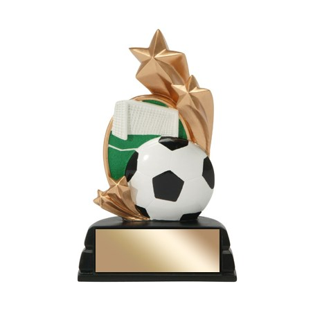 "6"" Soccer Trophy Star Series"