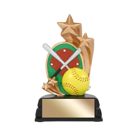 "6"" Softball Trophy Star Series"