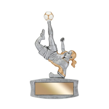 "7"" Magentic Female Soccer Trophy"
