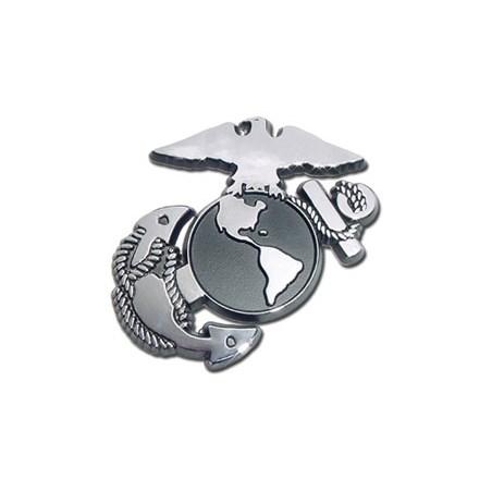 Marine Insignia Chrome Emblem