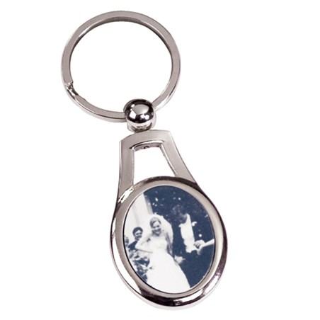 "3-1/8"" Keychain w/ Custom Insert"