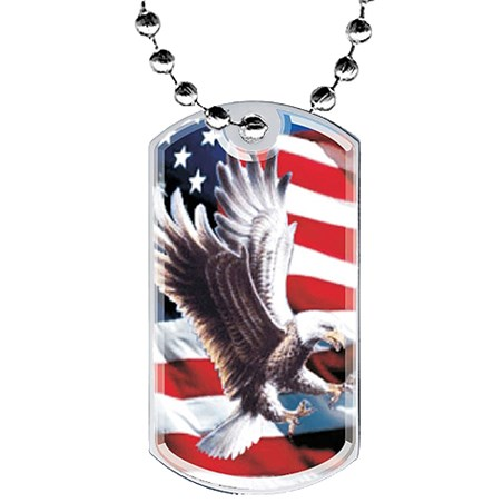 2 in Eagle Dog Tag w/ Epoxy Dome Graphics