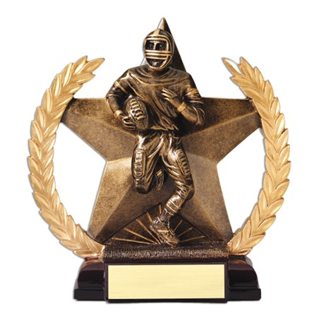 "7-1/4"" Superstar Football Trophy"