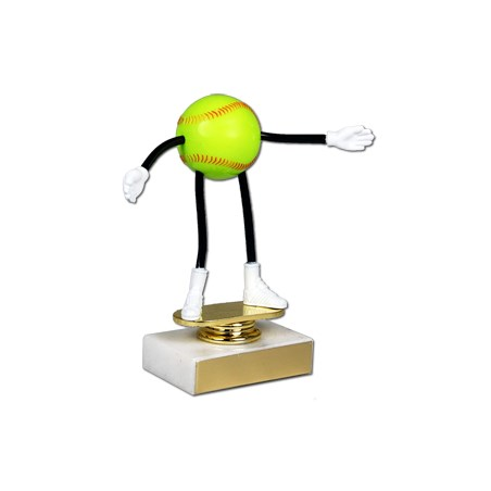Moveable Softball Trophy