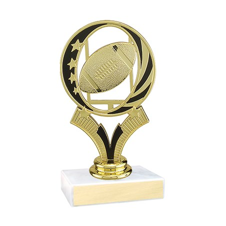 "5-3/4"" Midnite Star Football Trophy"