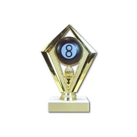 6-3/4 in Diamond Billiards Trophy