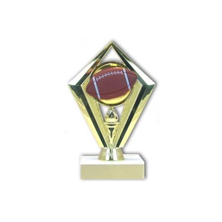 "6-3/4"" Diamond Football Trophy"