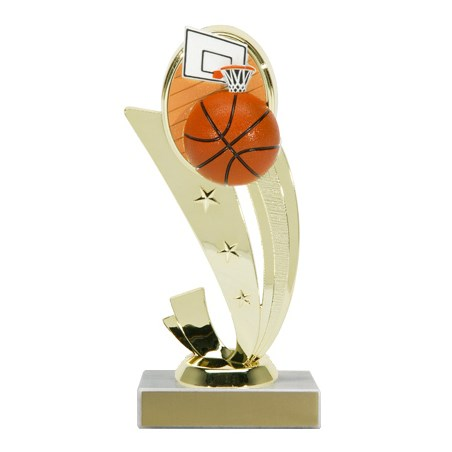 "7-1/4"" Color Basketball Trophy"