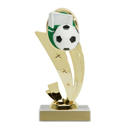 "7-1/4"" Color Soccer Trophy"