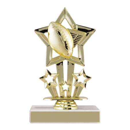"6-3/4"" Star Football Trophy"