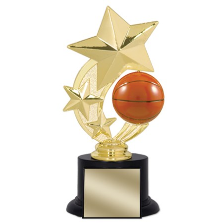 7 in Basketball Trophy with Round Black Base