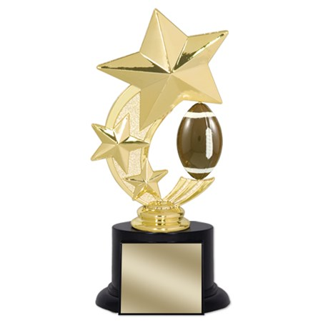 7 in Football Trophy with Round Black Base