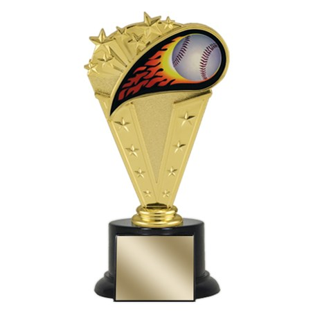 "8"" Baseball Trophy with Round Black Base"