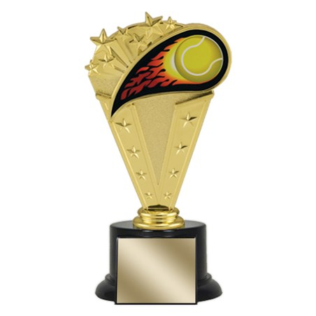 "8"" Tennis Trophy with Round Black Base"