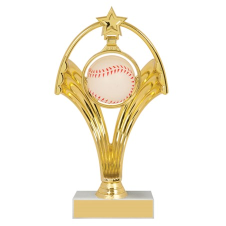 "7 3/4"" Swinging Figure Baseball Trophy"