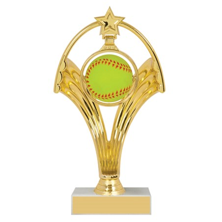 7 3/4 in Swinging Figure Softball Trophy