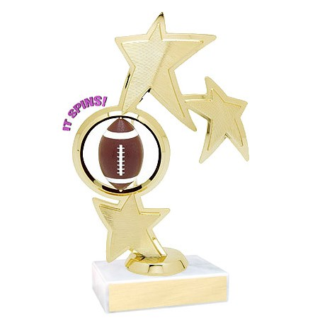 8.75 in Spinning Football Theme Trophy