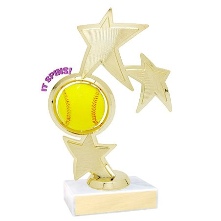 8.75 in Spinning Softball Theme Trophy