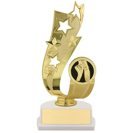 "7"" Offset Dance Ribbon Trophy"