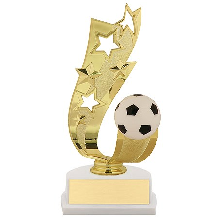 7 in Offset Soccer Ribbon Trophy