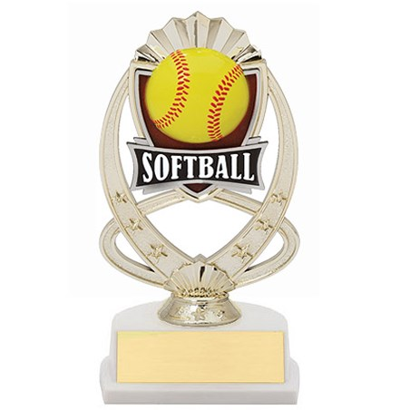 7.5 in Softball Theme Trophy