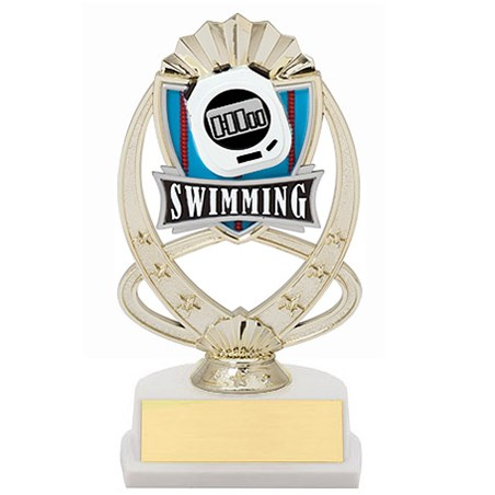 7.5 in Swimming Theme Trophy