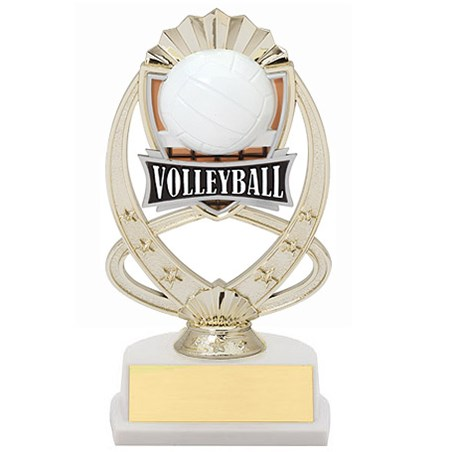 "7.5"" Volleyball Theme Trophy"