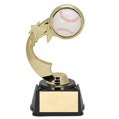 7 in Ribbon Star Baseball Trophy