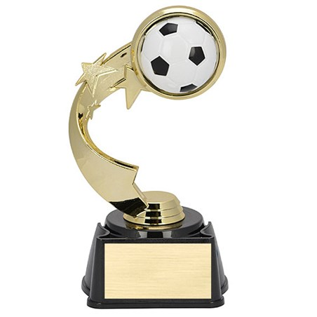 "7"" Ribbon Star Soccer Trophy"