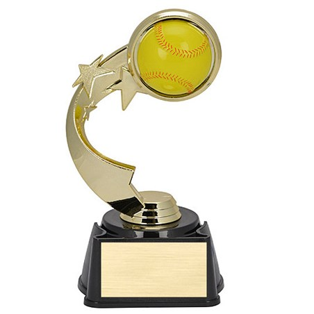 7 in Ribbon Star Softball Trophy