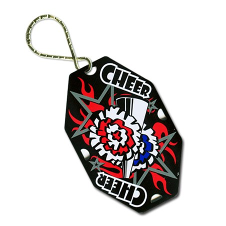 Cheerleading Key Ring with Key Chain