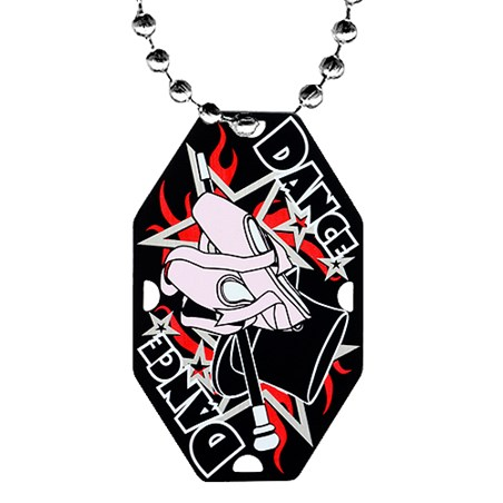 "2.5"" Dance Dog Tag w/ Chain"