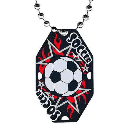 "2.5"" Soccer Dog Tag w/ Chain"